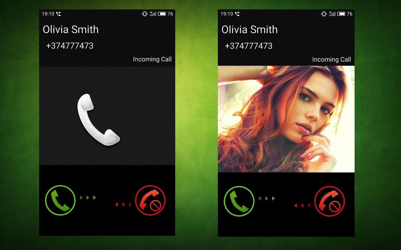 Картинка на весь экран во время звонка